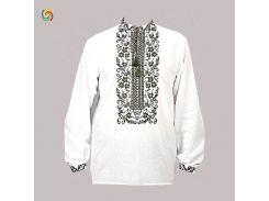 Рубашка Украинская вышиванка 18446 цвет белый размер L