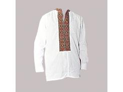 Рубашка Украинская вышиванка 218 цвет белый размер 5XL