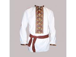 Рубашка Украинская вышиванка 121 цвет белый размер M