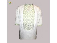 Рубашка Украинская вышиванка 3293 цвет белый размер S/M