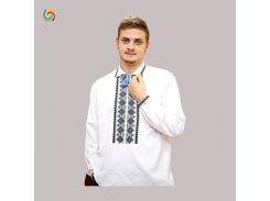 Рубашка Украинская вышиванка 213211 цвет белый размер XXL/3XL