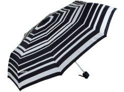 Зонт складной Fulton FULL779-Magic-Stripe механический Черный с белым