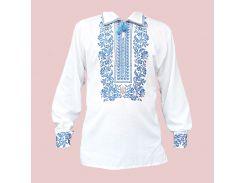 Рубашка Украинская вышиванка 1591 цвет белый размер XXXL