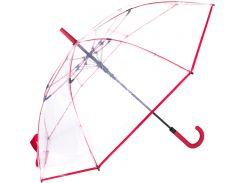 Зонт-трость Fare FARE7112-red полуавтомат Прозрачный с красным