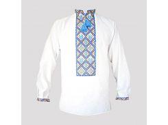 Рубашка Украинская вышиванка 537 цвет белый размер XL/XXL