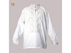 Рубашка Украинская вышиванка 3571 цвет белый размер S