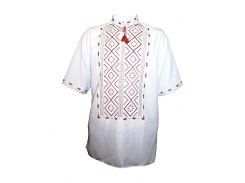 Рубашка Украинская вышиванка 1 цвет белый размер L