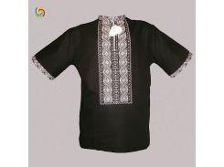 Рубашка Украинская вышиванка 5331 цвет чёрный размер XL