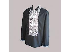 Рубашка Украинская вышиванка 1872 цвет чёрный размер XXXL