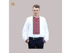 Рубашка Украинская вышиванка 212214 цвет белый размер 5XL