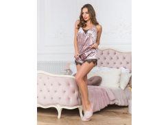 Пижама шорты + майка комплект домашний Van Qils 15369 48 розовая