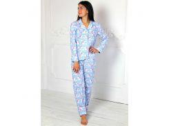 Пижама со штанами Nostalgy с единорогами голубая  M (2193)