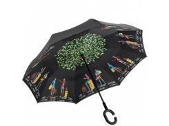 Умный зонт наоборот Up-brella. Зонт обратного сложения - Антизонт Прогулка