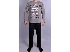 Мужская пижама Natural Club 089 L Серый