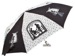 Зонт складной Zest Z53626B-9 полуавтомат Черно-белый