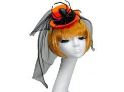 Шляпка Seta Decor 18-984BLK-OR Паук Оранжево-черная
