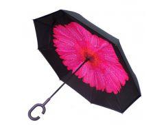 Зонт обратного сложения Vip-brella Георгин Розовый, 8 спиц купола