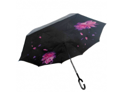 Умный зонт наоборот Up-brella. Зонт обратного сложения - Антизонт Чудо цветы
