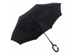 Зонт обратного сложения up-brella черный (600-13)