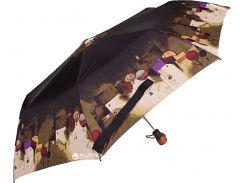 Зонт складной Airton Z3635-30 полуавтомат Черный с бежевым