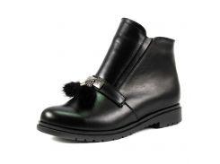 Ботинки демисез женск SND SDAZ-9 размер 39 черная кожа