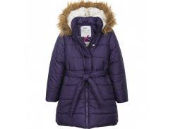 Пальто ENDO 134 см фиолетовое D82A008 2029