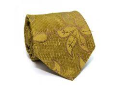 Галстук Romeo Gigli оливковый с цветами ZN-1877