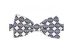 Галстук-бабочка белый темно-синий ромб Mark Winchoose b17a06-w23