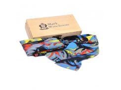 Комплект бабочка платок шелк голубой серый красный черный Mark Winchoose set17vg01-mc50