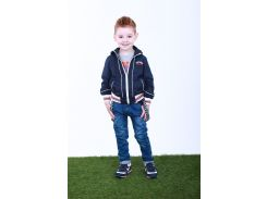 Джинсы для мальчика с подтяжками 225TEMNO SINIY р. 104 см Темно-синий