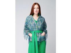 Жакет-куртка с декоративными элементами Ganveri M Сине-серебристый (3035)