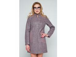 Пальто Emass Нора 42 серо-розовое