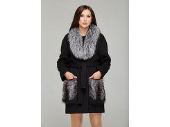 Пальто зимнее черное 313 42