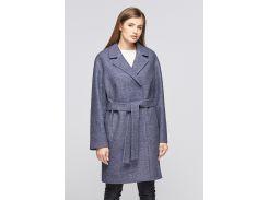 Пальто демисезонное синее DANNA N993 44