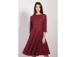 Платье Bessa в шотландскую клетку 38 красный