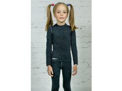 Термофутболка для девочек Totalfit TRD1-V9 100-108 см Темно-серый