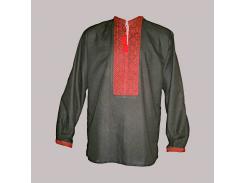 Рубашка Украинская вышиванка 397 цвет чёрный размер XL