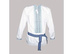 Рубашка Украинская вышиванка 225 цвет белый размер 4XL
