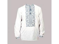 Рубашка Украинская вышиванка 1888 цвет белый размер XXXL