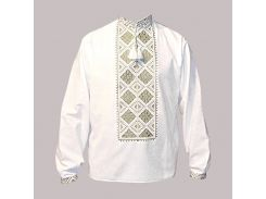 Рубашка Украинская вышиванка 512 цвет белый размер M