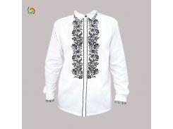 Рубашка Украинская вышиванка 205612 цвет белый размер 3XL