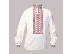 Рубашка Украинская вышиванка 513 цвет белый размер XL