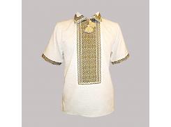 Рубашка Украинская вышиванка 462 цвет белый размер XXXL