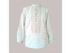 Рубашка Украинская вышиванка 325 цвет белый размер M