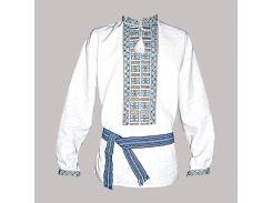 Рубашка Украинская вышиванка 222 цвет белый размер XL/XXL