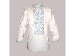 Рубашка Украинская вышиванка 564 цвет белый размер M