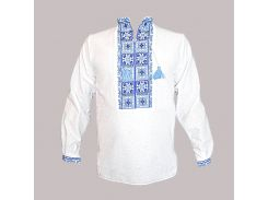 Рубашка Украинская вышиванка 574 цвет белый размер XXXL