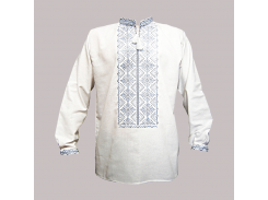 Рубашка Украинская вышиванка 406 цвет белый размер S/M