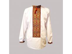 Рубашка Украинская вышиванка 279 цвет белый размер XL/XXL