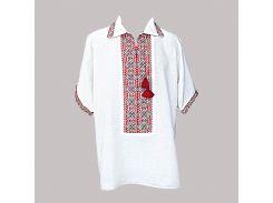Рубашка Украинская вышиванка 1273 цвет белый размер L